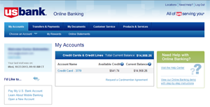 Online Banking with your Kroger REWARDS World Mastercard